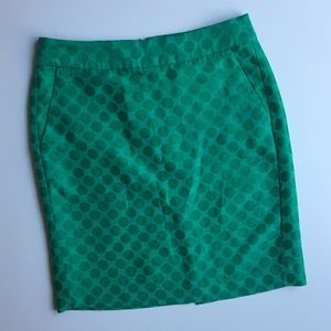 Banana Republic Green Work Pencil Skirt